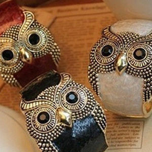 Jewelry - Enamel Big Eyes Owl Wide Bangle Cuff Bracelet NEW